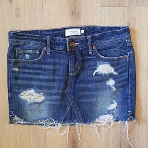 Abercrombie & Fitch Deconstructed Jean Skirt